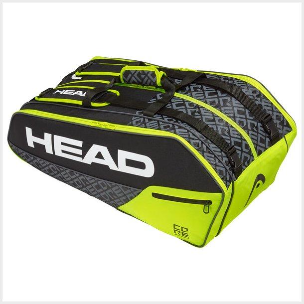 Head Core Super Combi 9R (sort/gul)
