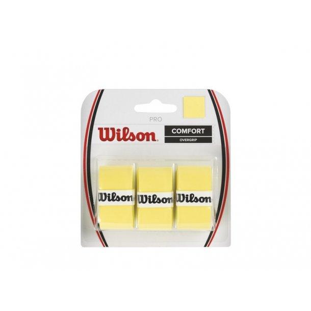 Wilson Pro Overgrip Gul (3-stk)